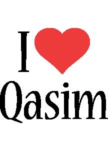 Qasim i-love logo