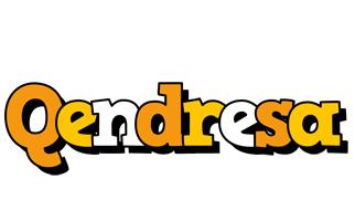 Qendresa cartoon logo