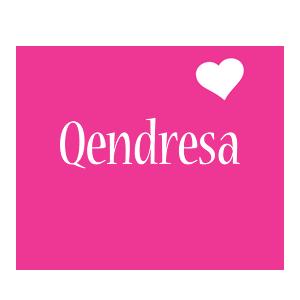 Qendresa love-heart logo