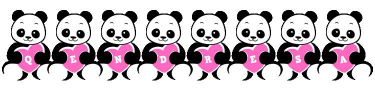 Qendresa love-panda logo