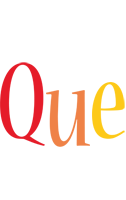 Que birthday logo