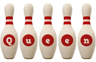 Queen bowling-pin logo