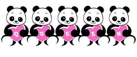 Queen love-panda logo