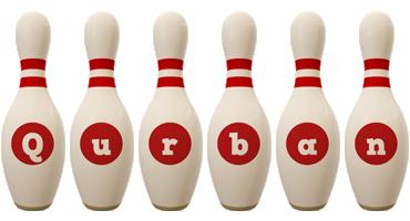 Qurban bowling-pin logo