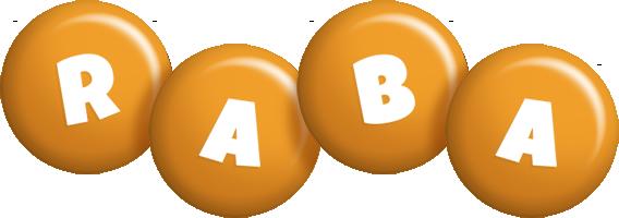 Raba candy-orange logo
