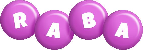 Raba candy-purple logo