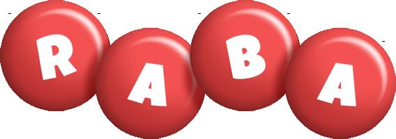 Raba candy-red logo