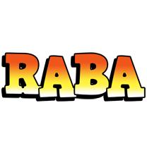 Raba sunset logo