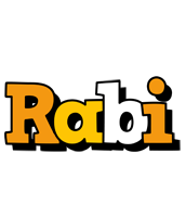 Rabi cartoon logo