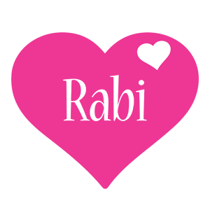 Rabi love-heart logo