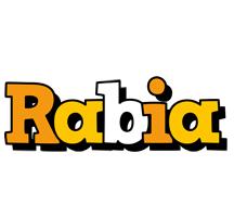 Rabia cartoon logo