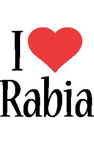 Rabia i-love logo