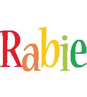 Rabie birthday logo