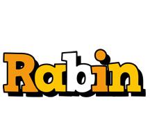 Rabin cartoon logo