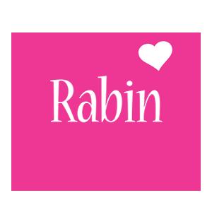 Rabin love-heart logo