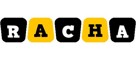 Racha boots logo