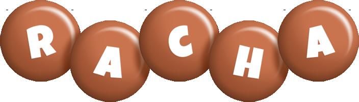 Racha candy-brown logo