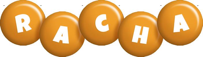 Racha candy-orange logo