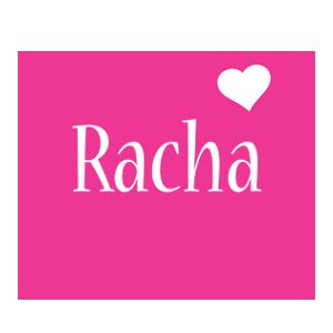 Racha love-heart logo