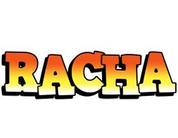 Racha sunset logo