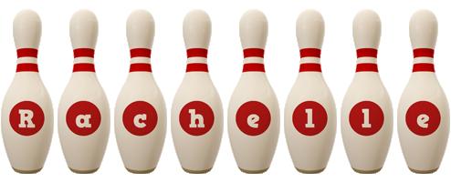 Rachelle bowling-pin logo