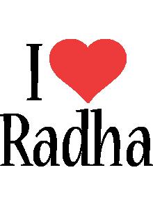 Radha i-love logo