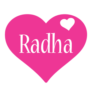 Radha love-heart logo