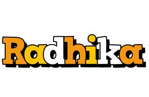 Radhika cartoon logo