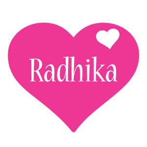 Radhika love-heart logo