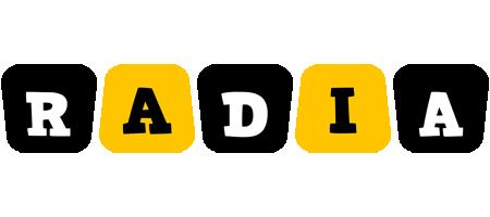 Radia boots logo
