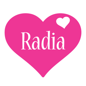 Radia love-heart logo