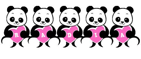 Radia love-panda logo