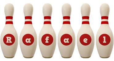 Rafael bowling-pin logo