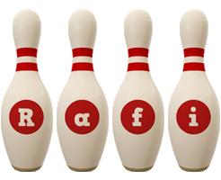 Rafi bowling-pin logo
