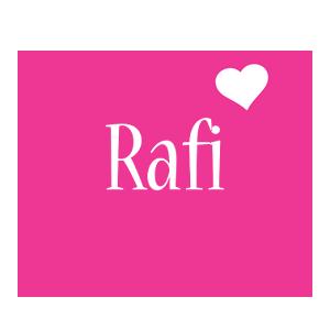Rafi love-heart logo