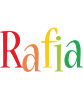 Rafia birthday logo