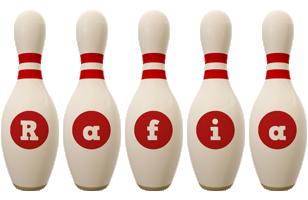 Rafia bowling-pin logo