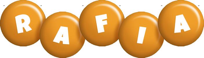 Rafia candy-orange logo