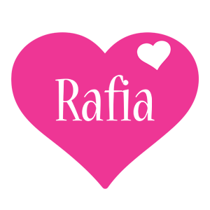 Rafia love-heart logo