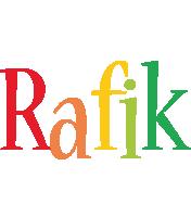 Rafik birthday logo