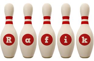 Rafik bowling-pin logo