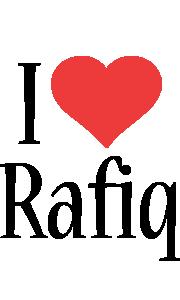 Rafiq i-love logo