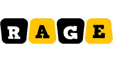 Rage boots logo