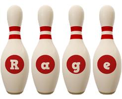 Rage bowling-pin logo
