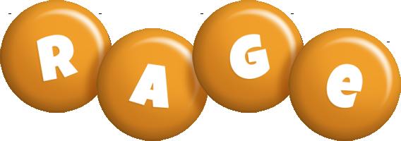 Rage candy-orange logo