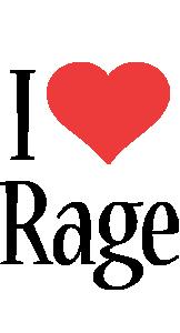 Rage i-love logo