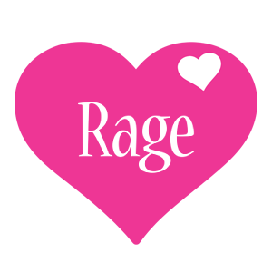 Rage love-heart logo