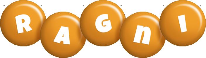 Ragni candy-orange logo