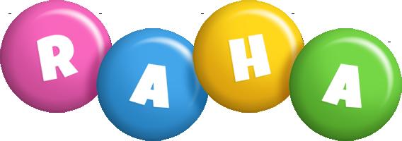 Raha candy logo