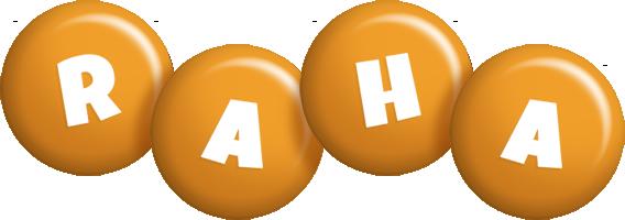 Raha candy-orange logo
